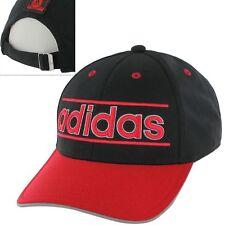 Adidas Throwback  Men's Baseball Hat Black & Red Adjustable Back ONE SIZE NWT