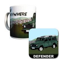 Land Rover Defender Mug & Coaster Set