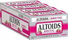 Altoids Arctic 1.2oz Sugar Free Strawberry Tins 8ct Box  (FREE PRIORITY MAIL)