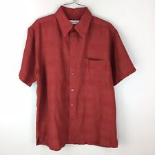 Milano Bay Casual Short Sleeve Red Button Front Shirt