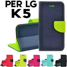 CUSTODIA COVER SMARTPHONE FLIP LIBRO,CALAMITA STAND CASE TPU X LG K5 X220