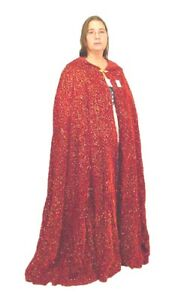 BUTW Red velveteen with gold renaissance cloak cape 6623A abe
