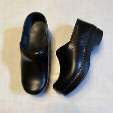 Dansko Women's Clogs Black Leather EU 37 Professional Nurse Slip on US sz 6.5-7