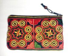 Hmong Embroidered Vintage Tribe Bag Hill Handbag Shoulder Purse Tribal  Applique