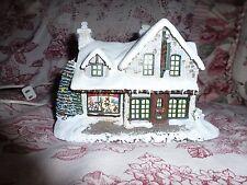 Thomas Kinkade Lighted House Santa's Workshop Toys