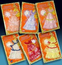 6 Cocktail Poupées Vêtements + Chaussures chapeaux neuf dans sa boîte blister 70er 29 cm jeu poupées action