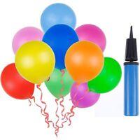 100 Ballons Colorées avec la Pompe à Ballon