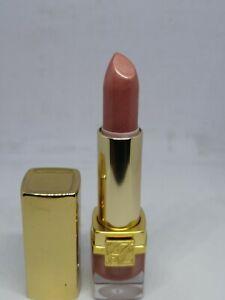 New Estee Lauder TIRAMISU Shimmer Pure Color Crystal Lipstick Rare Gold Case