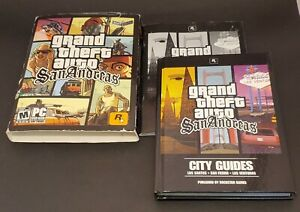 Grand Theft Auto: San Andreas Canadian 1st Edition Complete Hardcover Book & Map