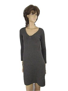 CASHMERE BY BLOOMINGDALE'S GRAY  100% CASHMERE  V-NECK  DRESS SIZE XS