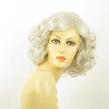 Parrucca donna ricci semi lunga bianco : trycia 60