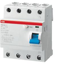 ABB F427812 F204 AC 25A  30MA 0,03A INTERRUTTORE DIFFERENZIALE  PURO 4P F427812