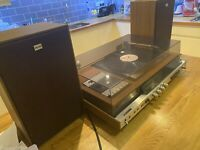 SONY HMK-40 Music Centre with Tape/FM-LW-MW Radio/Garrard Turntable & Speakers