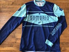 Sombrio Duster Cycling Bike Jersey Mens Large Long Sleeve Blue on Blue Athletic