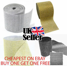 1M Diamante Effect Ribbon with Different Colours Cake Trim Sewing Bridal Lace