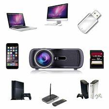 7000 Lumens Full HD 1080P LED LCD 3D VGA HDMI TV SD Home Theater Projector AL