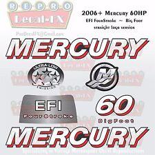2006+ Mercury 60HP BF Str Decal EFI Four Stroke Big Foot Repro 7 Pc Straight