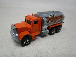 1979 Hot Wheels BLACKWALL ERA *PETERBILT CALIFORNIA CONSTRUCTION* 1:64 (Case B)