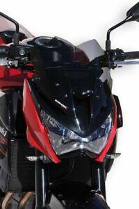 Bulle / Saute vent sport 30 cm ERMAX Kawasaki Z 800/800 E 2013 - 2016 Noir Clair