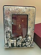 CUNILL ORFEBRES STERLING SILVER CLAD 3D CHILD BABY PICTURE FRAME LEATHER BACK