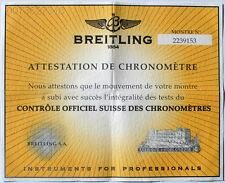 Certificat Chronometer 2239153 I230 Breitling Certificat De ChronomÉTre