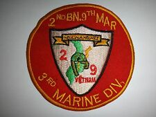 Vietnam War US 2nd Battalion 9th Marine Regiment 3rd Marine Division Patch