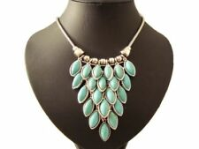 Oval Stone Statement Costume Necklaces & Pendants