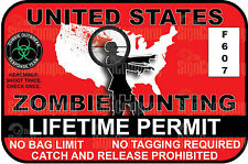 Zombie Hunting Permit Vinyl Sticker THE WALKING DEAD 3M DECAL funny sticker TWD