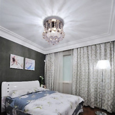 Modern Crystal Ceiling Lamp Flush Mount Fixture Chandeliers Light for Room