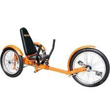 "TriTon 20"" 3 WHEEL Tricycle RECUMBENT Trike Bike Orange"
