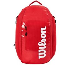 Wilson Super Tour Backpack Tennis Racquet Racket Bag Red Wrz840896 Pockets