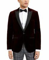 Hugo Boss Mens Sport Coat Red Size 46 Tuxedo Velvet Single Button Slim $595 172