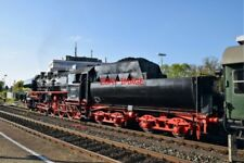 PHOTO  GERMAN RAILWAY -  DRB CLASS 52 NO 52 8195 'MITTELFRANKEN' WITH 2'2'T30 V9