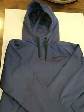 New listing NIKE Hoodie Mens XL Dri Fit navy blue / black Pullover Front Pocket Polyester