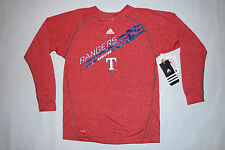 Texas Rangers YOUTH Medium 10/12 Shirt MLB Baseball ADIDAS SAMPLE NEW (HOLE)