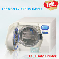 17L Medical Dental Autoclave Sterilizer Sterilization Vacuum Steam +Data Printer