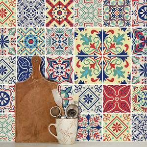Traditional Tile Stickers Vintage Transfer Decal Kitchen Bathroom DIY - T15
