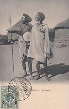 SOMALIA Cartolina TIPI SOMALI NON VIAGGIATA C. 5 su 2 ELEFANTE MOGADISCIO 1911