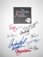The Phantom of the Opera Musical Signed Script X9 Andrew Lloyd Webber reprint