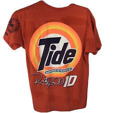 New listing Vtg T Shirt Mens L Racing Ricky Rudd #10 Nascar Single Stitch Delta Tide Orange