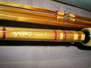 Beautiful,''Pigeon Creek''Custom Made Bamboo Fly Rod.8'3/2 4-5wt.4.9oz.Sock+Tube