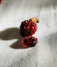 """36 Cranberry Glass Beads, 7/8th"""" excluding loop at top"""