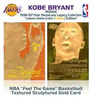 1996-97 KOBE BRYANT FEEL THE GAME Flair NBA Showcase Legacy GOLD ROOKIE Home