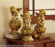 Gilded Cherub Trio Decorative Statues