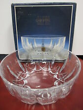 "CAPRI CRYSTAL BOWL - MADE IN ITALY 24% LEAD CRYSTAL - 8 1/4"" WIDE X 3 1/4"" TALL"