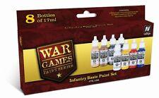 Vallejo 70156 infrantry Pintura de acrílico básicas juegos de guerra Set 8 x17ml botella de plástico