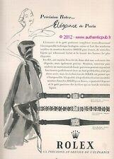 publicite ancienne de 1951 ROLEX MONTRE ELEGANCE DE PARIS WATCH AD ADVERT PUB