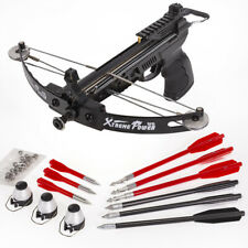 Hand Held 140fps Self-Cocking Crossbow Archer Hunting Fishing w/Arrows 28lbs