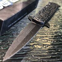 "9"" SPRING ASSISTED STONEWASH COBRA STILETTO TACTICAL FOLDING KNIFE Pocket Blade"