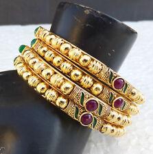 Indian Ethnic Bollywood Gold Plated UK Fashion Jewelry Bangles Bracelet Set 2.10
